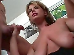 This milf likes to get two cocks