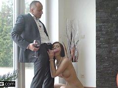 Glamkore Jenifer Jane sensual striptease and anal pounding