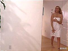 Porn superstar Julia Ann gets a hot and steamy intimate massage