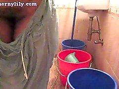 Sexy Indian Babe Bhabhi Lily Washing Undergarments