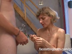 Young stud fucks a horny french milf in the pussy