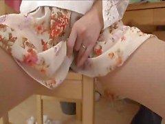 Japanese big tits mature porn star Anna