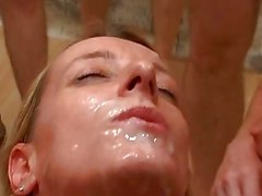 Naughty Blonde Slut Opens Wide F...