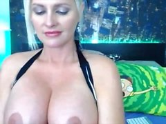 Milf Cam girl Alena Croft shows off her pussy on cam