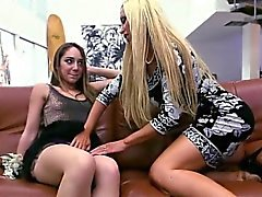 Busty Teen Remy and Nikki gets caught fingering