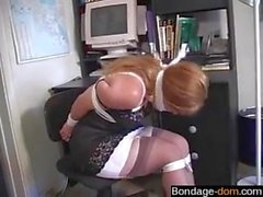 hot and busty milf is tied up by the bandit
