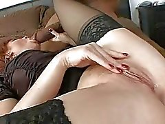 Red headed Brittany Oconnell takes a massive black cock in her tight mouth