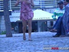 NPD 2 - Public Flashing in a Mall by Busty Lady