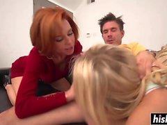 Veronica and Zoe share a pecker