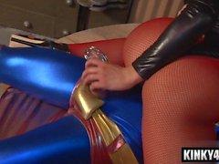 Hot slave femdom with cumshot