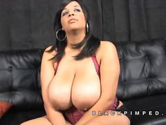Felishia big tits ratchet kneel for pimp