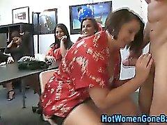 Pole eating amateur party babes