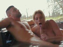 Hot Milf Holly Kiss Nailed Outdoor