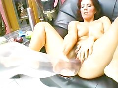 Red headed milf needs something bigger than a dick