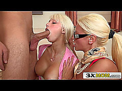 Blond Mom Bonks Stepdaughter and Her Boyfriend menacing-fearsome Rikki Sixx,fearsome Nikita Von James