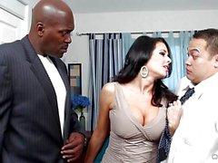 Weak husband watches Veronica Avluv fuck a big black dick