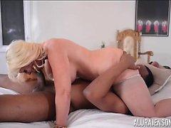 Alura Jenson Rides Jovan Jordan's Big Black Cock Interracial