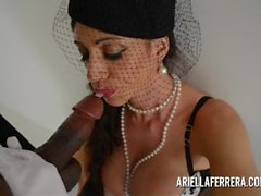 Ariella Ferrera Shows Off on night out and then Fucks Huge Black Cock