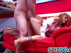 Spizoo - Julia Ann fucking a big hard dick, big booty & big boobs