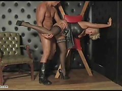 Kinky mistress gets her pussy nailed