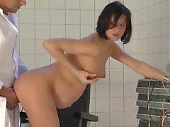 Pregnant lady sucks and fucks her gynecologist
