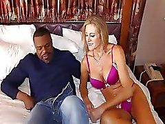 blonde milf gets a BBC