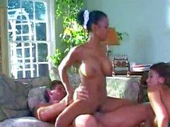 Mom Fucks Sons Brit Girlfriend & French Black Maid!