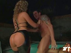 Big ass bikers in having group anal sex in latex