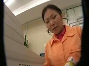 Horny Oriental lady has a guy pleasing her needy peach with