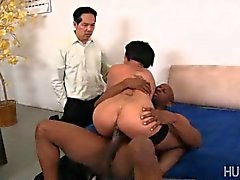Beta husband watches bbc fuck his wife