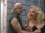 A buxom old blonde milf slut get worked over good