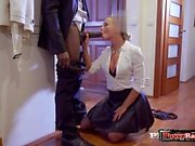 European pornstar interracial with creampie