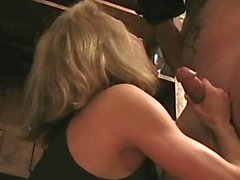 Brandi Love Kitchen Blowjob, Cum in Mouth