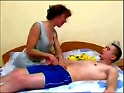 Russian mom and not her son amateur homemade mature cum