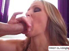 FirstClassPOV - Julia Ann take a monster cock in her throat, big boobs