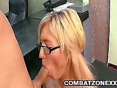 Big tit babe gets fucked by her boss