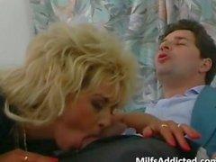 Nice blonde slut knows how to sucks