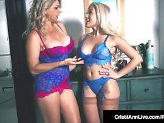 VNA Babes Cristi Ann & Vicky Vette Vibrate Their Vaginas!