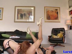 British stockings milf pussylicks and rubs