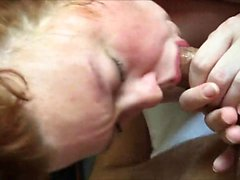 Redhair MILF giving an unforgettable BJ