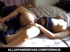 Rika sucks cock and has hot assets touched during big frigging