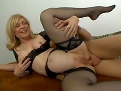 mature milf Nina Hartley does anal
