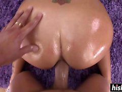 Laela Pryce gets a big hard shaft