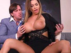 Big tits pornstar titty fuck and cum on tits