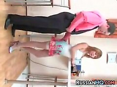 Russian MILF Wearing Stockings