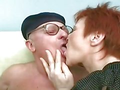 Grandma and Grandpa Have Sex With A Young Brunette