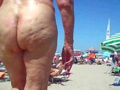 Sexy Nudist Milfs SpyCam Close Up Beach Voyeur HD Video