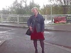Busty czech MILF fucks hard in taxi
