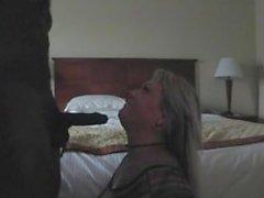 Black Boss Fucks Blonde Female Manager in Hotel