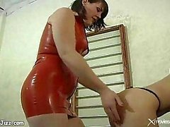Hard BDSM for brunette milf